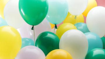Colorful festive air Balloons