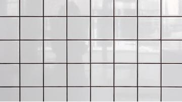 White tiled Wall