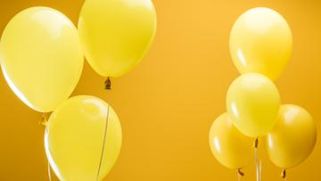 Festive Yellow air Balloons