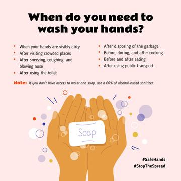 #SafeHands Coronavirus awareness with Hand Washing rules