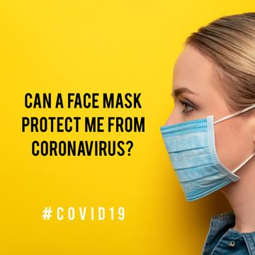#Covid19 awareness with Woman wearing Mask