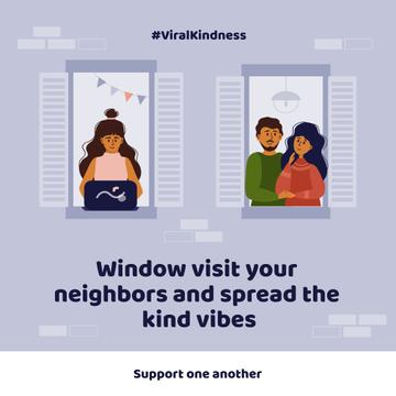 #ViralKindness with friendly Neighbors staying at home