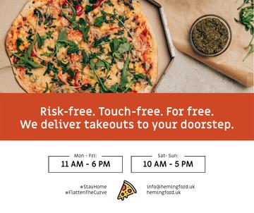 #StayHome Delivery Services offer with Pizza