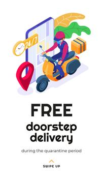 Delivery Services offer with courier during Quarantine