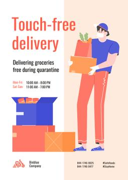 Touch-free Delivery Services offer with courier