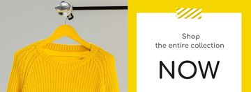 Entire Collection Annoucement with Yellow Sweater
