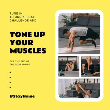 #StayHome challenge with Man exercising