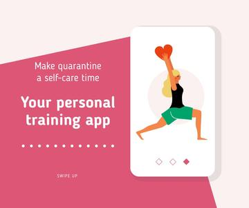 Quarantine Self-Care concept with Woman exercising
