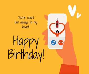 Birthday Greeting on Phone during Quarantine