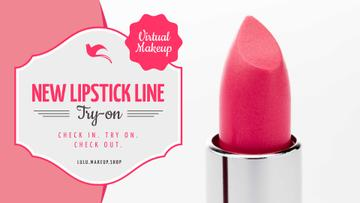 Cosmetics Promotion with Pink Lipstick