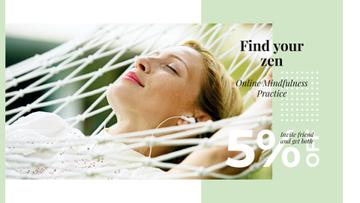 Relaxing Tips with Woman Resting in Hammock