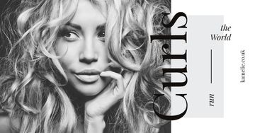 Curls Care Tips with Woman with Messy Hair