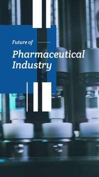 Pharmaceutical Industry with Medicine on production line