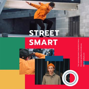 Fashion Ad with Young Skaters