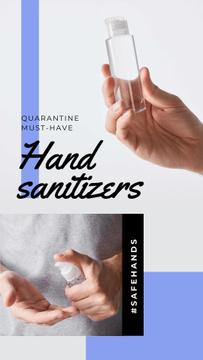 #SaveHands Man applying Sanitizer