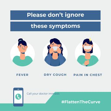 #FlattenTheCurve Plea don't ignore Virus symptoms