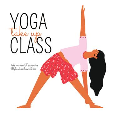#MyPandemicSurvivalClass Yoga Class Ad during Quarantine