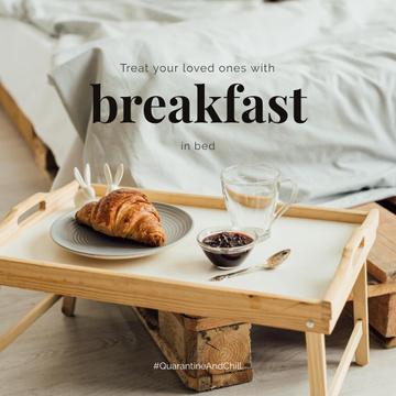 #QuarantineAndChill Sweet breakfast on wooden tray