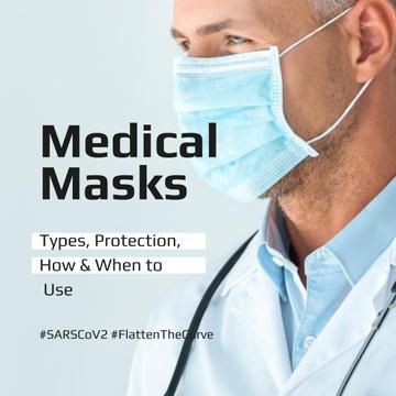 #FlattenTheCurve Information Ad about Medical Masks