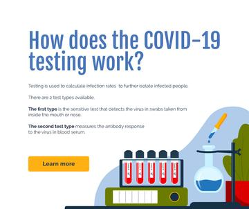 Covid-19 testing concept with Laboratory equipment
