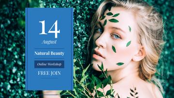 Beauty Workshop with Woman in green leaves