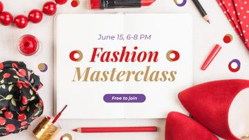 Fashion Masterclass Ad with Red Accessories