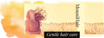 Hair Care Offer with Young Girl in field