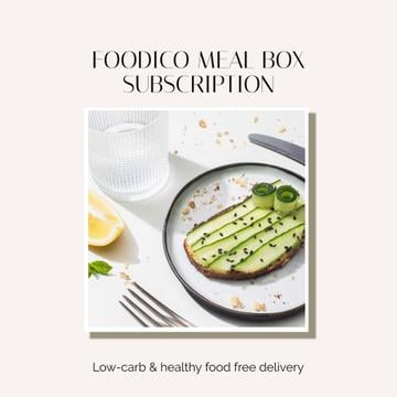 Food Delivery Offer with Healthy Breakfast