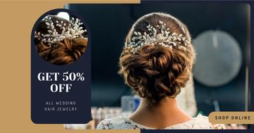 Wedding Jewelry Offer Bride with Braided Hair