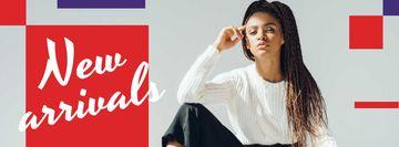 Fashion Ad Woman in Monochrome Clothes