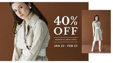 Fashion Sale with Woman in coat