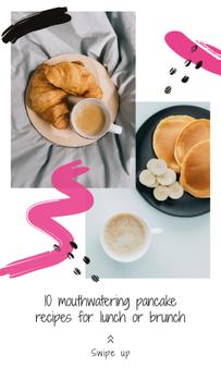 Pancakes Recipes Ad for Lunch and Brunch