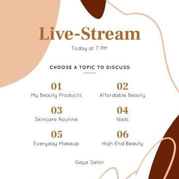 Live Stream Ad of Beauty topics