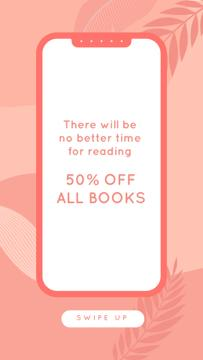 E-reading Offer on Pink Leaves backround