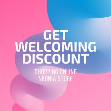 Discount Offer in Colorful background
