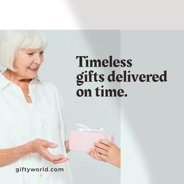 Woman getting Gift on Mother's Day