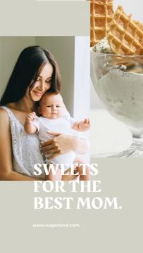 Mother's Day Sweets Offer with Mother holding Child