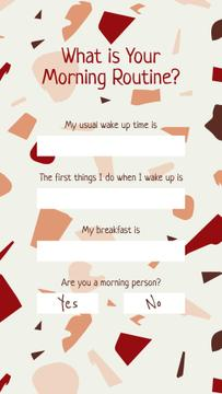Form about Morning Routine