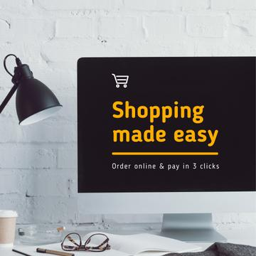 Online Shopping Ad on Monitor screen