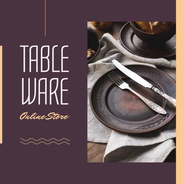 Online Store Offer with Ethnic Tableware