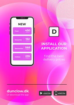 Shop Application Delivery Offer in pink
