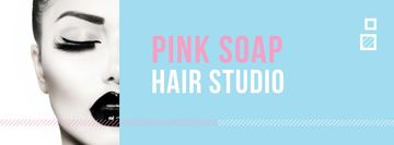 Hair Studio Ad Woman with creative makeup