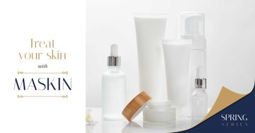 Cosmetics Ad Skincare Products Mock up