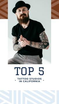 Tattoo Studio ad Young tattooed Man