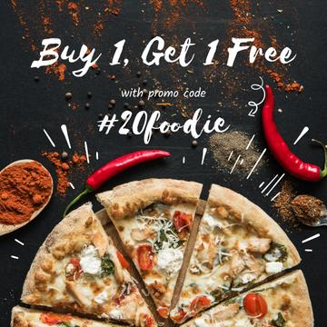 Pizza Special Offer with Red Pepper