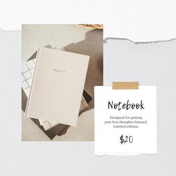 Notebook Offer in white Frame