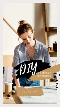 Art Decor for Home with Girl Artist