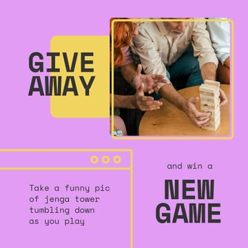 Board Game Giveaway with playing People