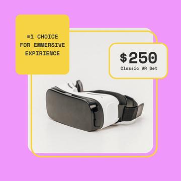 VR glasses Offer in Pink Frame