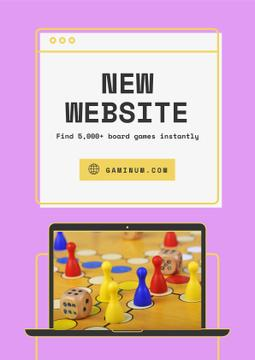 Website Ad with Board Game